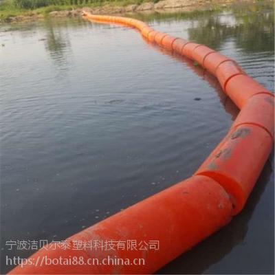高强度浮式拦污索水上垃圾拦截浮漂施工