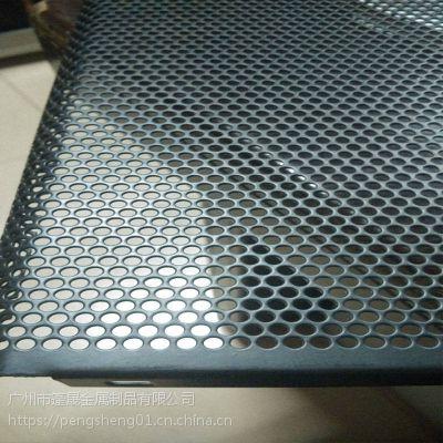 广州篷晟镀锌板1.2mm厚冲孔网板娱乐机篮球机圆孔铁板烤漆黑色定做