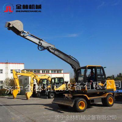 金林机械 75轮式挖掘机 工程轮式挖掘机