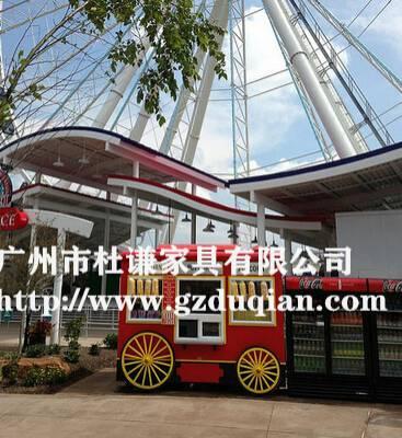 景区公园售货车公园可移动花车定做商场小吃餐车