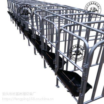 猪用定位栏、复合定位栏厂家、养猪设备热镀锌围栏制作