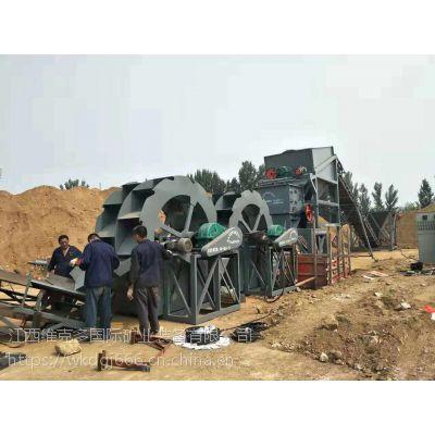 赣州供应全自动水洗沙设备螺旋式洗沙机选洗砂机轮斗式洗矿机