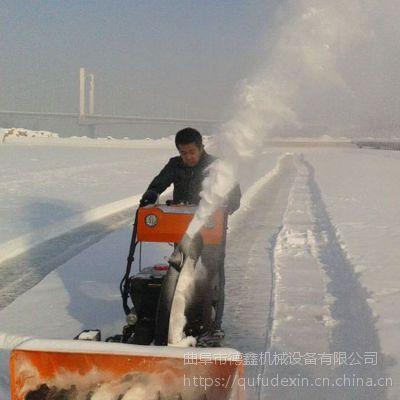 手推汽油动力清雪机 滚刷式扫雪机 公路人行道扫雪机 清扫效率高