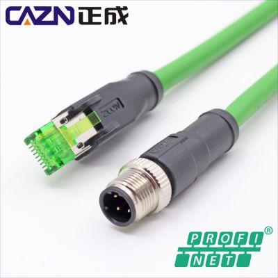 总线系统孔式插座 PROFINET 4芯 板前/PG9螺纹安装 M12 D编码
