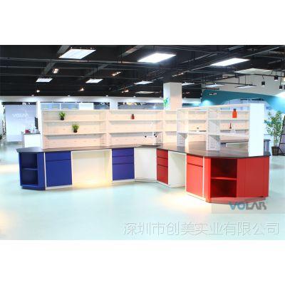 广西实验室家具全钢中央实验台定制_VOLAB