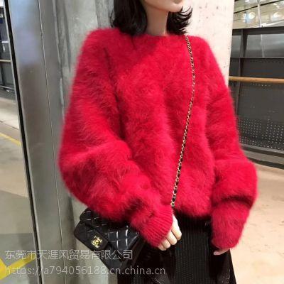 便宜库存毛衣冬季外套杂款时尚韩版毛衣便宜针织衫女装毛衣清货圆领毛衣