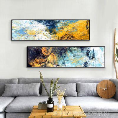 卧室装饰画简约画客厅沙发背景墙挂画现代床头抽象画北欧房间壁画