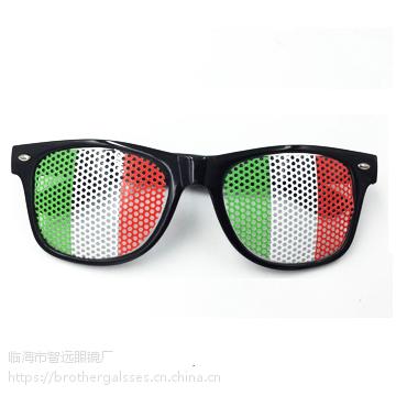 跨境专供欧美贴纸小孔眼镜促销针孔眼镜米订太阳镜订制logo