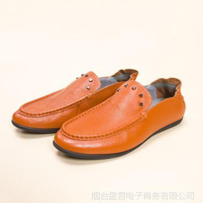 品牌剪标尾货外贸库存男鞋懒人鞋豆豆鞋男休闲皮鞋轻便舒适单鞋子
