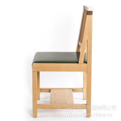 实木椅子椅茶室咖啡厅餐椅北欧现代简约时尚中式靠背椅