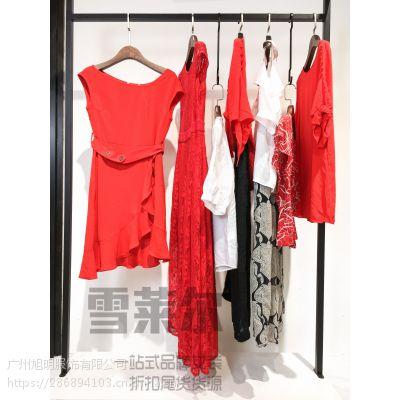 杭州高端品牌女装千百惠折扣尾货货源批发那有 藏蓝色多种款式