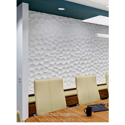 广州波浪板厂家定制公装公司会议室背景墙潮流大旦石纹波浪板