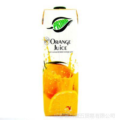 普瑞达 果汁饮料1L*12 芒果/苹果/橙汁等口味 进口果汁 饮品批发