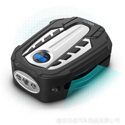 新款车载充气泵 12V金属缸汽车打气泵 智能数显设胎压轮胎充气泵