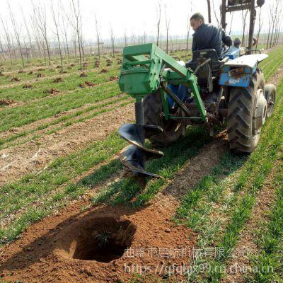 四轮拖拉机立杆挖坑机 单人手提式植树挖坑机 启航硬土打洞机价格