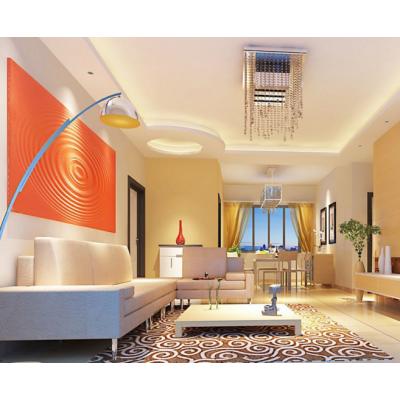山东波浪板定制现代风格婚房沙发背景小清新波浪板装饰板