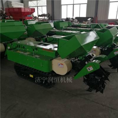 遥控田园开沟施肥机价格 拖拉机带果树施肥除草机