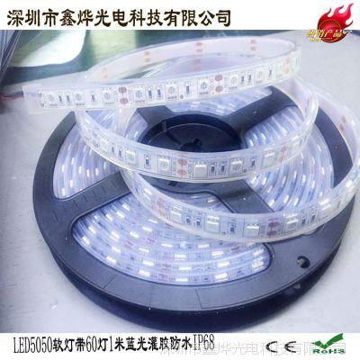 LED5050软灯条 防水 软灯带 60灯一米 灌胶IP68 高亮 DC12V