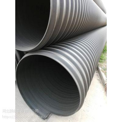 供应HDPE大口径钢带排污管 dn300-2200mm