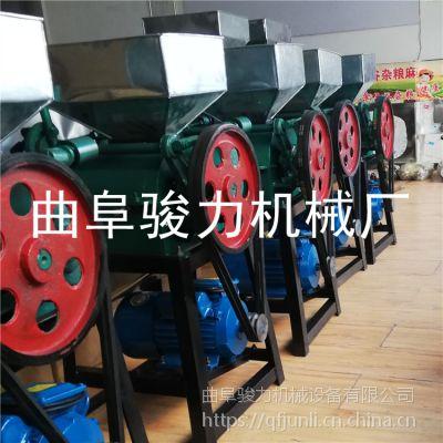 熟花生米电动破碎机 大豆挤扁机 骏力定做 大型荞麦破碎机
