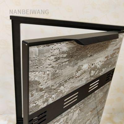 厨柜灶台铝合金材料 型材 晶钢门 豪华大边拉手 橱柜门带外框