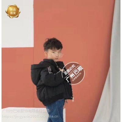 广州批发中端品牌中大童《小鬼达人》冬装简约时尚18年专柜同步货源走份批发