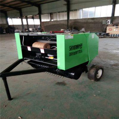 玉米秸秆捡拾打捆机 小型拖拉机带动背负式秸秆捡拾打捆机
