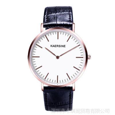 超薄真皮手表 时尚简约休闲手表男士手表防水钢带石英表皮带男表
