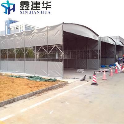 杭州移动雨棚厂家电话 下城区雨棚防雨 布 推拉仓储雨篷哪家好