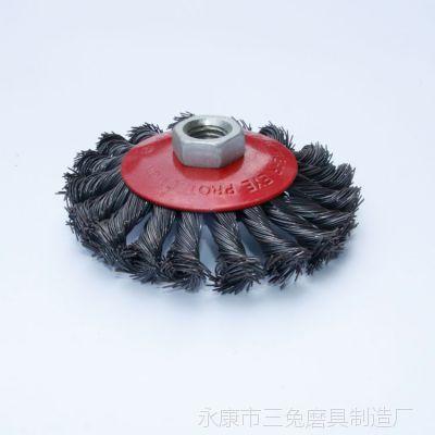 平型抛光轮除锈轮打磨轮 盘形扭丝轮