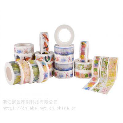 成都和纸棉纸胶带生产厂家,风景画宫廷风清新风时尚可撕半透明纸胶带