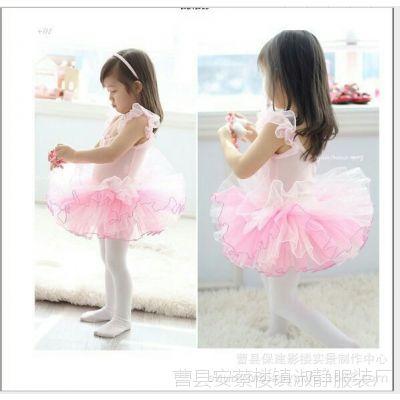 儿童舞蹈服芭蕾舞裙女童幼儿演出服夏吊带蓬蓬纱裙表演服练功服