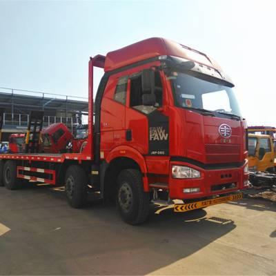 大型挖机拖车解放J6前四后八平板运输车包上牌需要多少钱