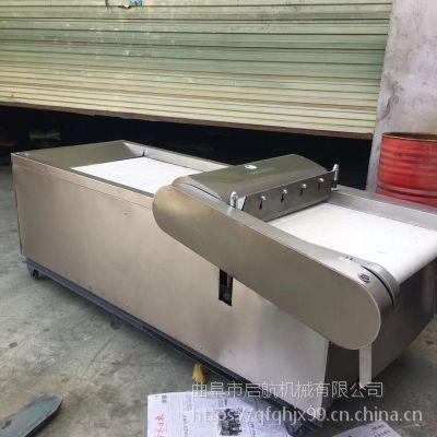 不锈钢餐馆切丝机 韭菜大葱可调节切段机 启航榨菜切片机厂家