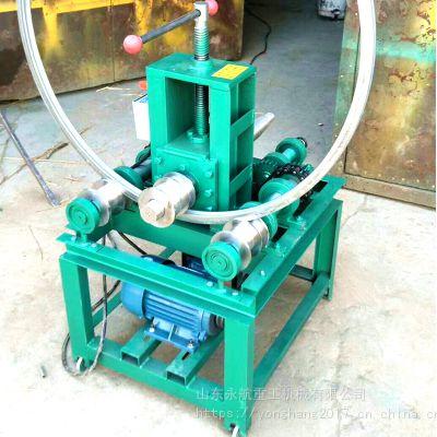 电动卧式弯管机弯圆管方管大棚折弯机弯弧机不锈钢筋铜管压弧卷圆
