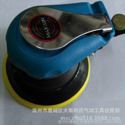 气动圆盘磨光机,5寸自吸尘式砂磨机,不吸尘式气动中型抛光机