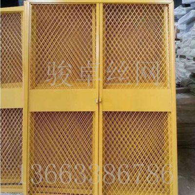 楼层施工防护门 红色喷塑井口护栏网 现货供应优质围栏