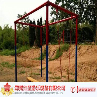 儿童荡荡板游乐设备广场 儿童拓展游乐设备 占地面积小 操作简单