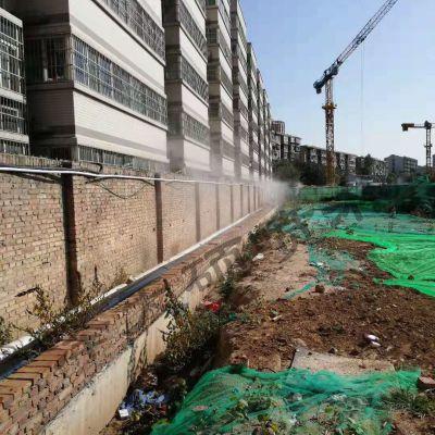 陕西西安工地围挡围墙喷淋喷雾降尘系统设备生产厂家