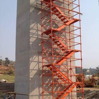 梯笼式爬梯 基坑通道爬梯 建筑施工安全爬梯生产厂家