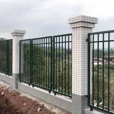 汕头铁艺大门批发厂家 小区锌钢护栏大门铁丝网隔离门