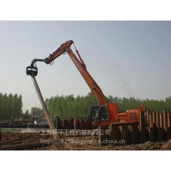 上海打桩机拉森钢板桩出租打拔施工进口钢板桩止水效果好 青浦区水泥桩打拔拔桩清障