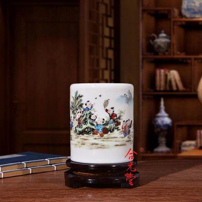 供应景德镇毕业礼品杯子,毕业季纪念品陶瓷笔筒定制