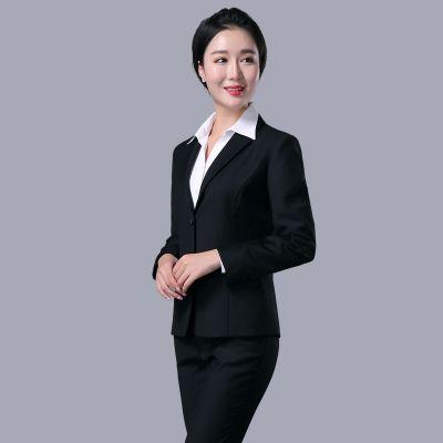 株洲工作服定制时尚西装两件套精品女士职业装