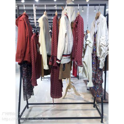 卡嘉茜北京品牌风衣尾货批发 成都女装品牌折扣批发在那里尾货棕色休闲套装