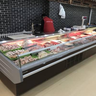 惠州2米内置机生鲜冷藏柜如何找厂家定制