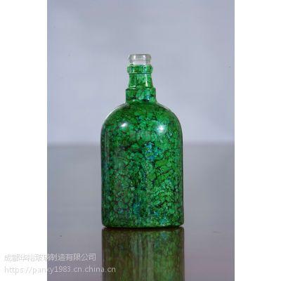 生产厂家定制晶质料玻璃酒瓶可喷漆蒙砂烤标印logo