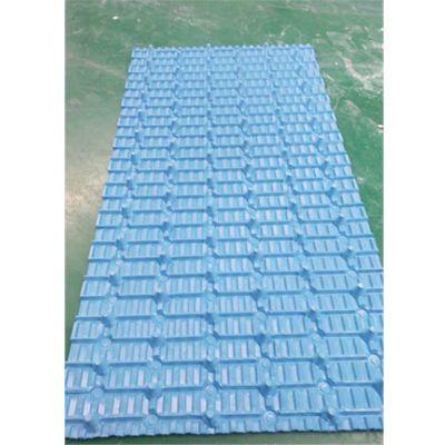 大点播冷却塔填料图片 蓝色黑色透明点播填料 标准角度 品牌华庆