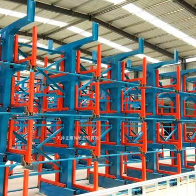 广东伸缩式管材货架供应 摇臂式货架定制要求 环保公司专用