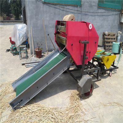 全自动打捆包膜机 保鲜时间长玉米秸秆圆捆包膜机
